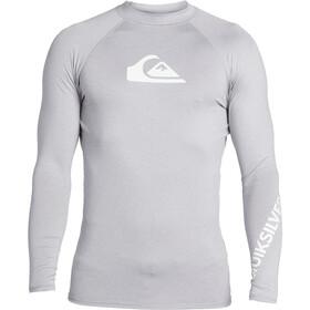Quiksilver All Time Camiseta Manga Larga Hombre, gris